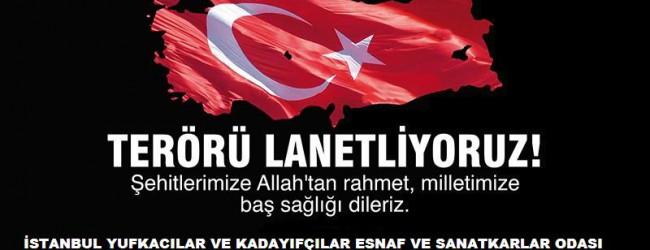 TERÖRÜ LANETLİYORUZ !!!