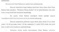 ZİRAAT BANKASI KREDİ KARTI BORCU YAPILANDIRMASI